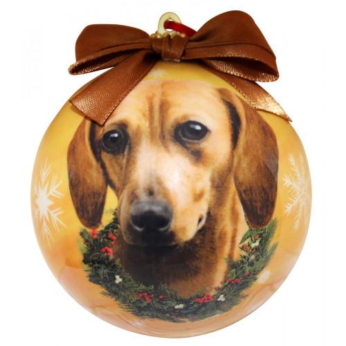 Dachshund, Red Christmas Ball Ornament