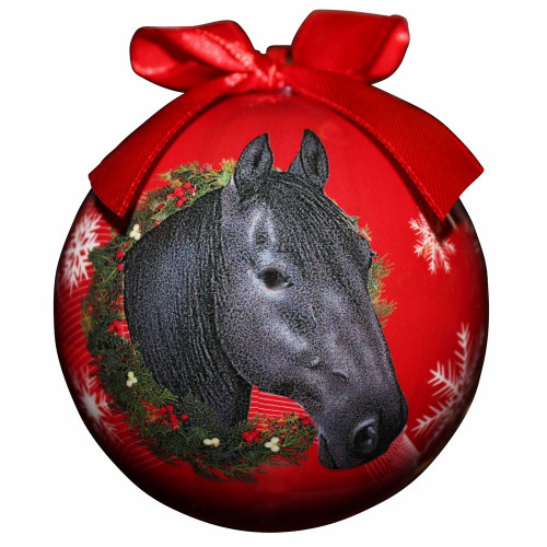 Black Horse Ball Ornament