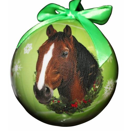 Bay Horse Ball Ornament