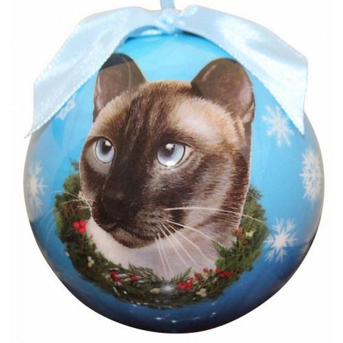 Siamese Cat Ball Ornament