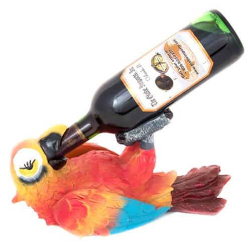 Colorful Parrot Wine Bottle Holder