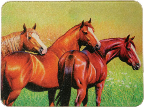 Chestnut Horses Cutting Board & Trivet