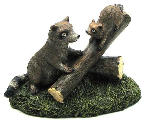 Raccoon & Baby Figurine