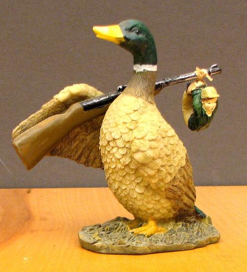 Duck Gets Hunter Figurine