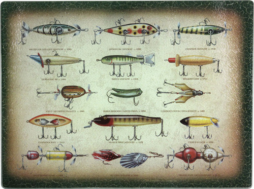 Fishing Lures Cutting Board & Trivet