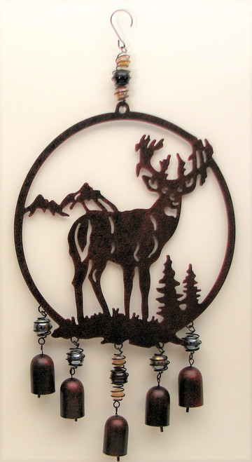 Buck Cut Out Wind Chime
