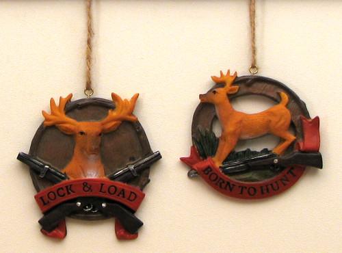Deer Themed Ornaments, Set of 2