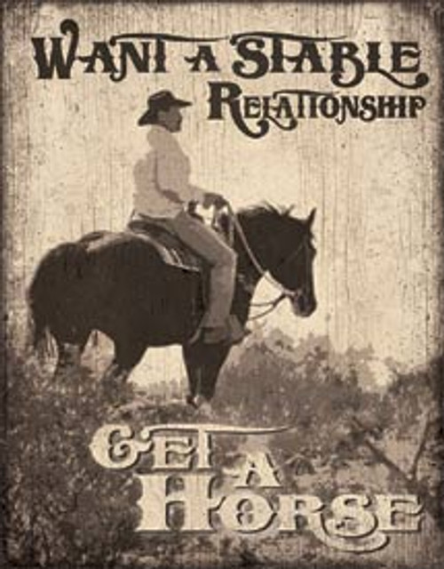 Stable Relationship TIn Sign