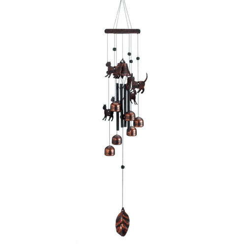 Bronze Cats Wind Chimes