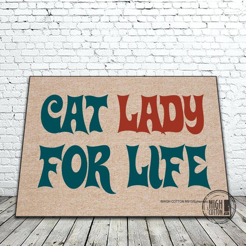 Cat Lady For Life Doormat
