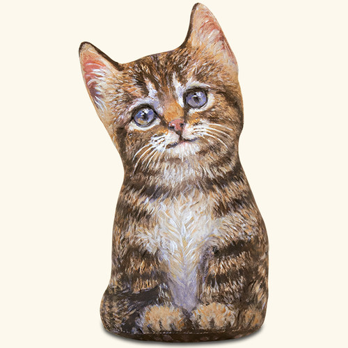 Brown Tabby Kitten Door Stop
