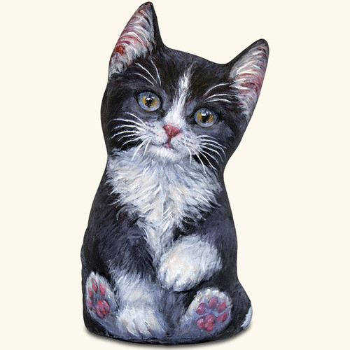 Black & White Kitten Door Stop