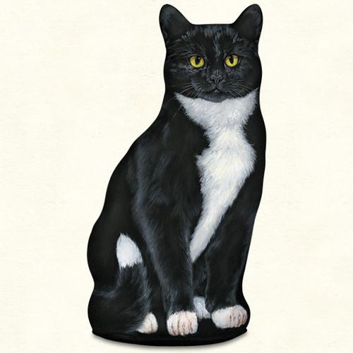 Black & White Cat Door Stop