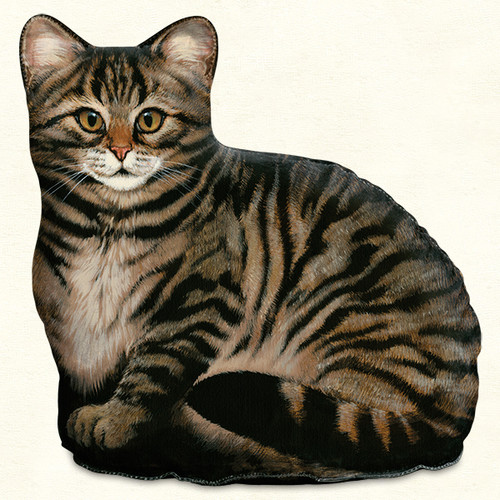 Brown Tabby Cat Door Stop