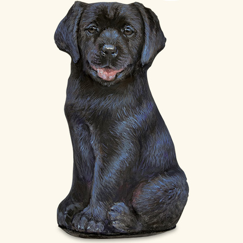 Black Lab Puppy Door Stop