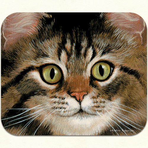 Brown Tabby Cat Mouse Pad