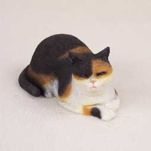 Calico Cat Napping Figurine