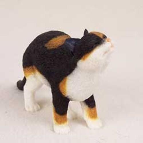 Calico Cat Happy Figurine