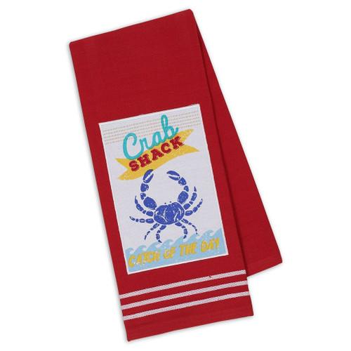 Blue Crab Shack Embellished Dish Towel