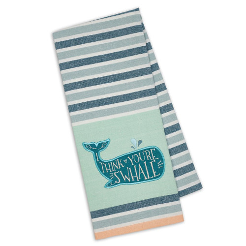 I Think You're S'Whale Embellished Kitchen Towel