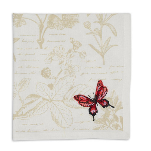 Red Butterfly Napkin