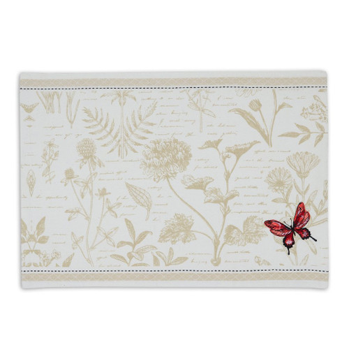 Red Butterfly Embroidered Placemat