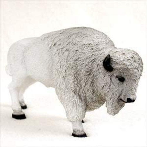 Buffalo, White Figurine