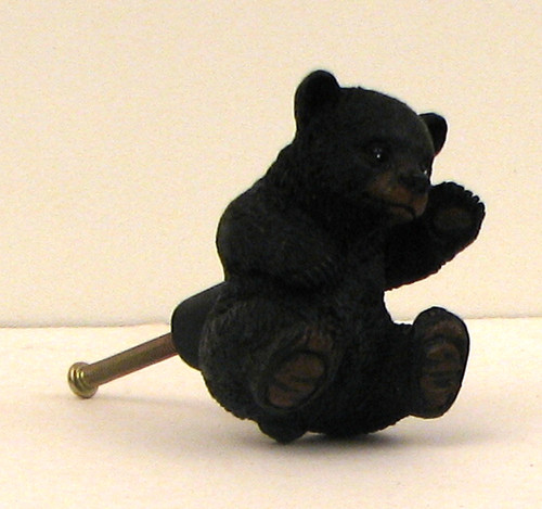Black Bear Cub Drawer Pull