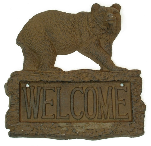 Grizzly Bear Welcome Sign