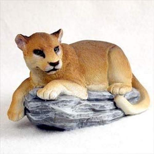Cougar On Rock Figurine