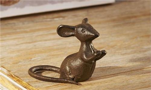 Cast Iron Mouse Figurine