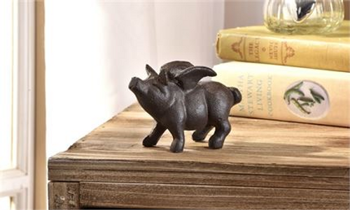 Flying Pig Figurine