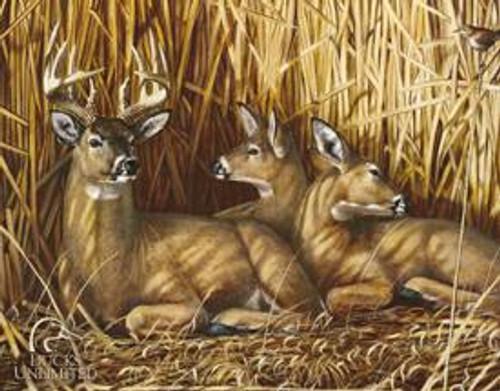 Deer Hideaway Tin Sign