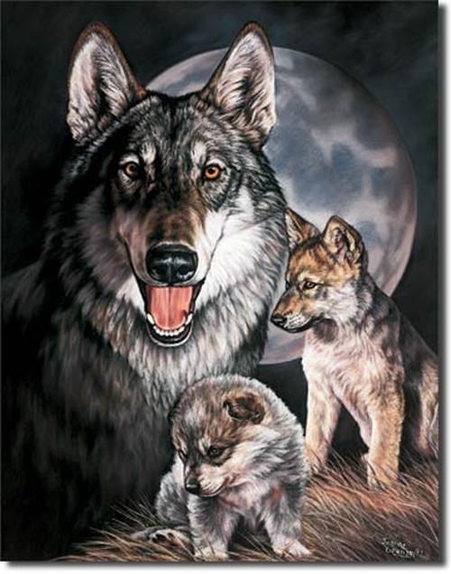 A Wolf's Life Tin Sign