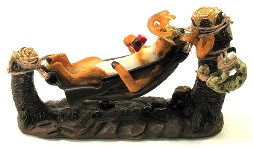 Buck in Hammock Figurine