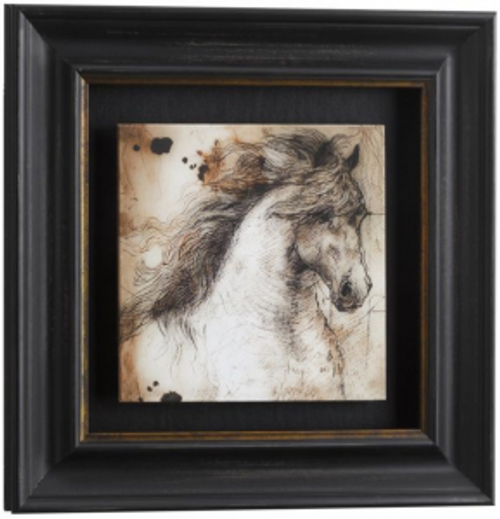 Framed Running Horse Wall Art