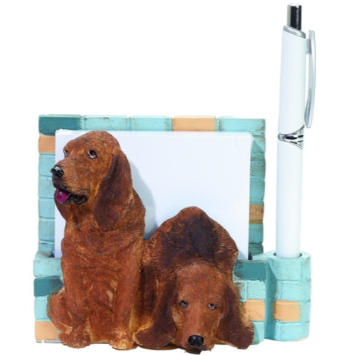 Bloodhound Mom & Pup Note Holder