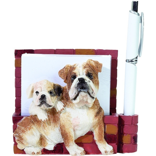 Bulldog Mom & Pup Note Holder