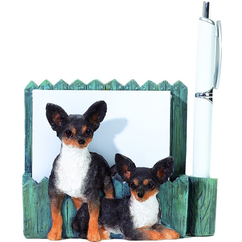 Chihuahua, Tri-Color Mom & Pup Note Holder