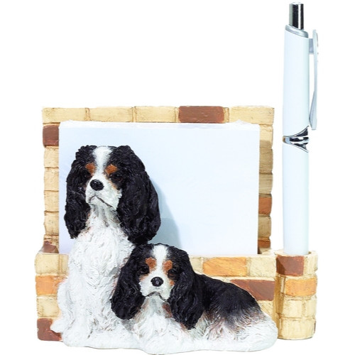 Cavalier King Charles, Tri-Color Mom & Pup Note Holder