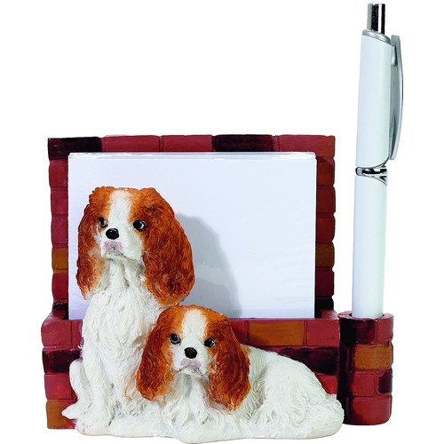 Cavalier King Charles, Brown & White Mom & Pup Note Holder