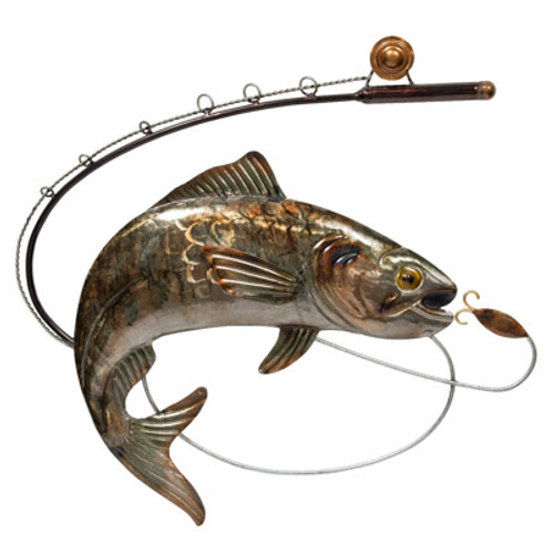 Trout On The Line Wall Décor