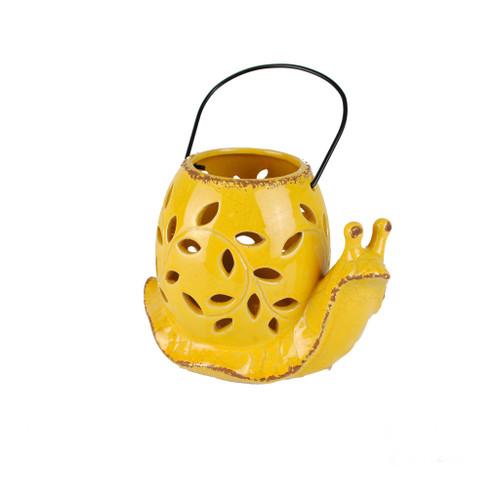 Yellow Snail Candle Lantern