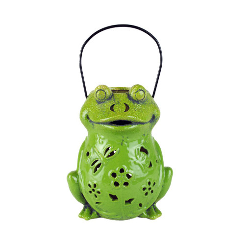 Green Frog Candle Lantern