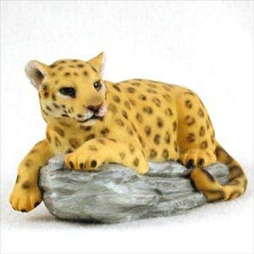 Leopard on Rock Figurine