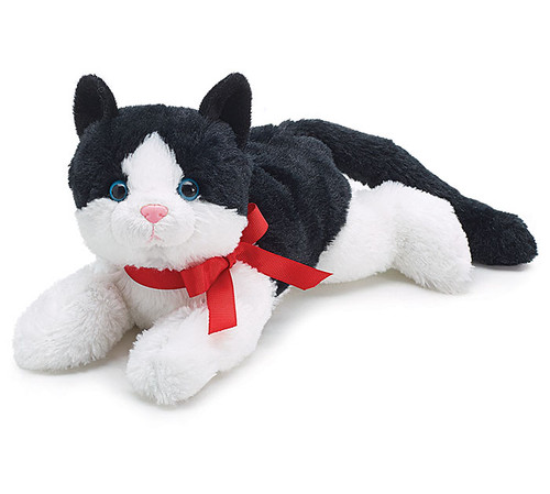 Black & White Cat Plush Toy