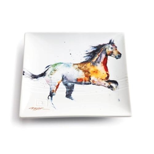 Watercolor Running Horse Snack Plate