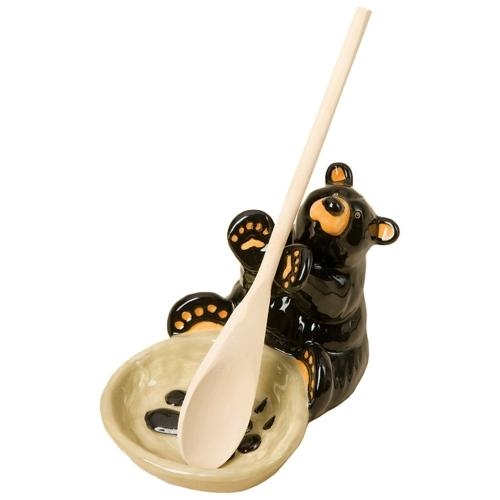 Black Bear Spoon Holder