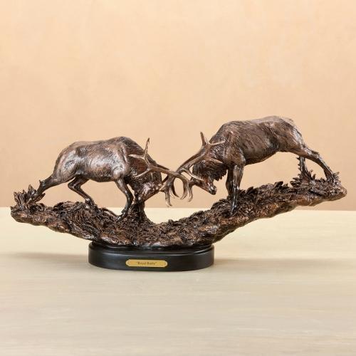 Fighting Elk Sculpture