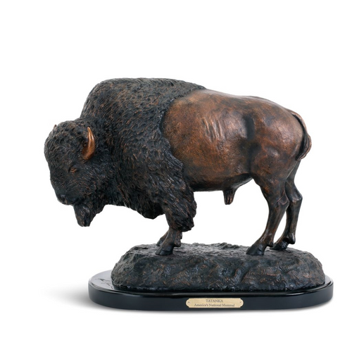 Buffalo Bull Sculpture